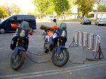 Wachleute in Odessa sorgten sich um unsere Motorräder