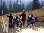 Noch gut gelaunt am Ordele Pass in Rumänien 10 min. später begann ein Schneesturm
