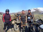 Wir trafen einen russischen Motorradfahrer den es am Vortag eingeschneit hatte