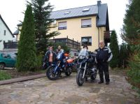 Startfoto im Erzgebirge mit  Sina, Rene', Gabi und Rolf.