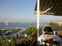Unser Hotel mit Blick auf den Bosporus
